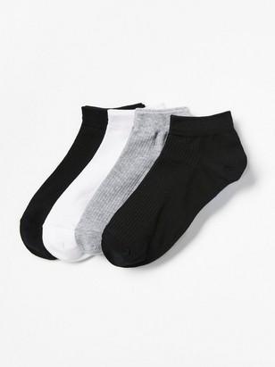 Sada 4párů kotníkových ponožek Černá