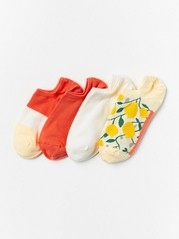 4-pack footies  Gul