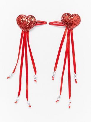 2-pack Heart Hair Clips Metal