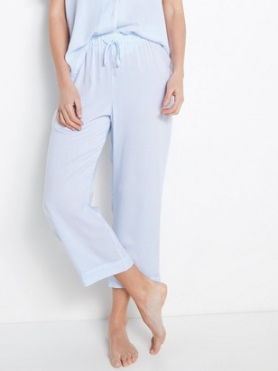 Striped Night Trousers Blue