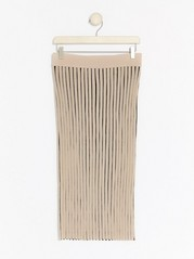 Rib-knit Skirt  Beige