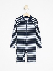 Striped Sunprotection Suit  Blue