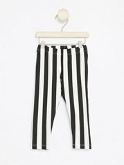 Striped Leggings Black