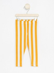 Leggings med striper Gul