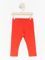 Leggings with Brushed Inside Red