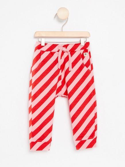 Kuviolliset housut Vaaleanpunainen