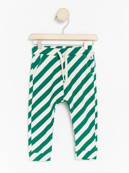 Kuviolliset housut Vihreä