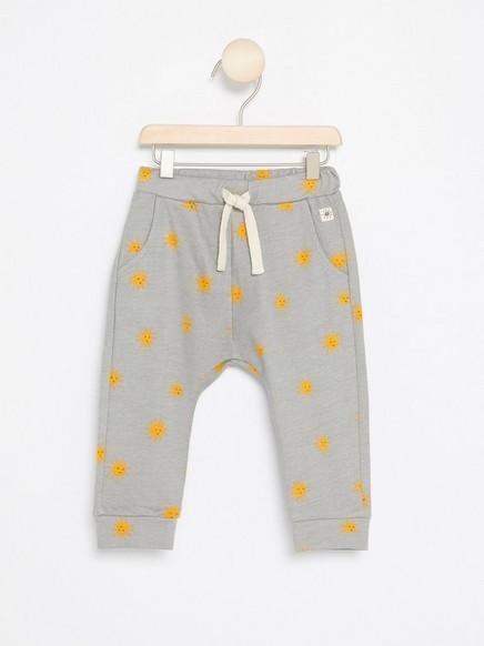 Kuviolliset housut Keltainen