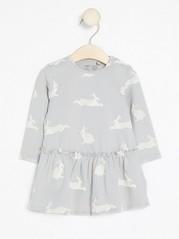 Patterned Dress Grey