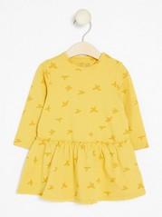 Kuviollinen mekko Keltainen