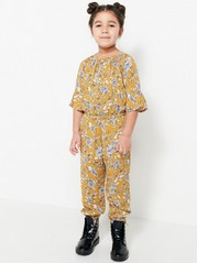 Floral Jumpsuit Yellow