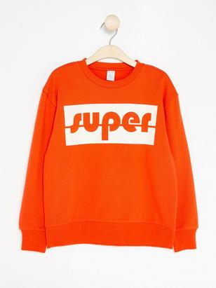 Sweatshirt with Print Orange