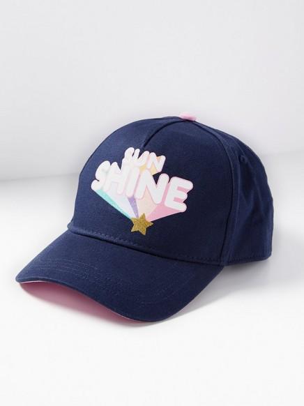 Caps med glittertrykk Blå