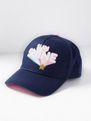 Cap with Glitter Print  Blue