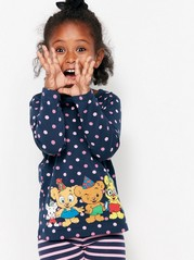 Bamse Top with Dots Blue