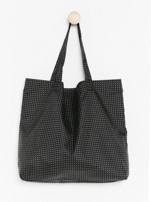 Skládací nákupní taška Černá