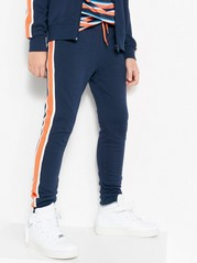 Sweatpants with Side Stripes Blue