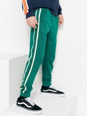 Sweatpants with Side Stripes Green
