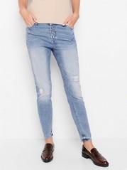 Zúžené klasické džíny MAIA Modrá