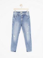 MAIA Tapered Regular Jeans Blå