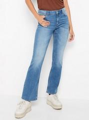 Klasické zvonové džíny KAREN Modrá