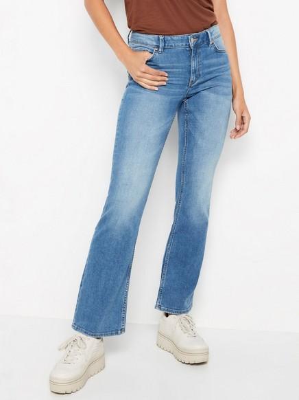 KAREN jeans med vanlig passform og sleng Blå