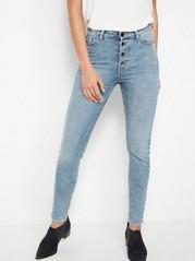 VERA Ljusblå skinny jeans med high waist  Blå