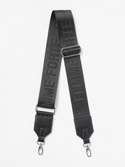 Shoulder Strap with Text for Bag Black