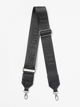Shoulder Strap with Text for Bag Black