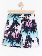 Swim shorts with palm trees White