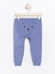 Trousers with back appliqué Blue