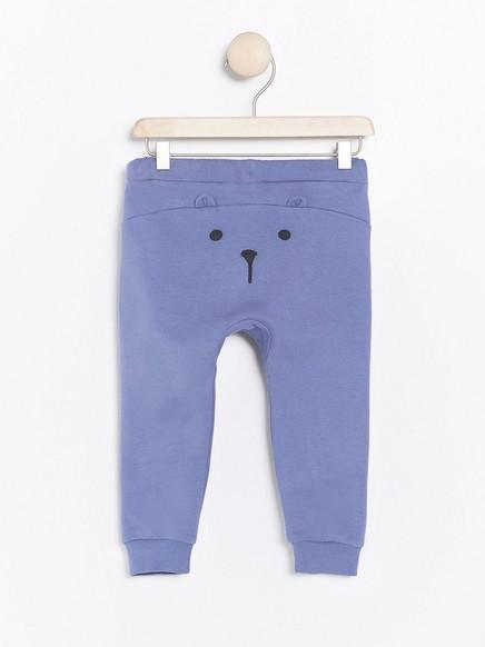 Bukse med applikasjon bak Blå