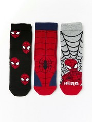 3-pack Spider-Man socks Black