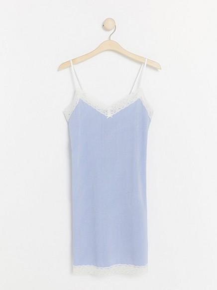 Blå- og hvitstripet nattkjole Blå