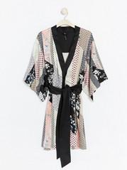 Patterned Kimono Black