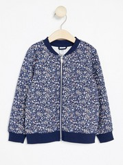 Floral Bomber Jacket Blue