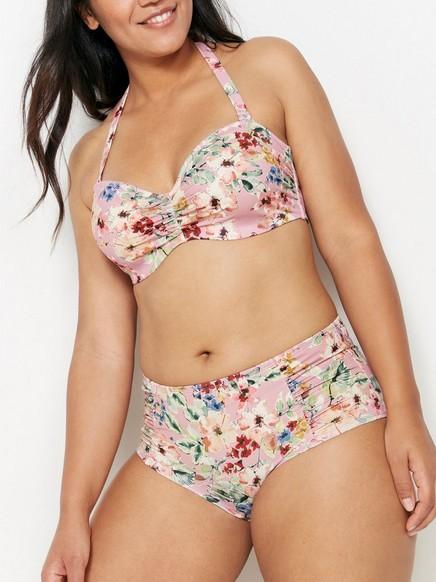 Klassisk bikinitruse med mellomhøyt liv Rosa