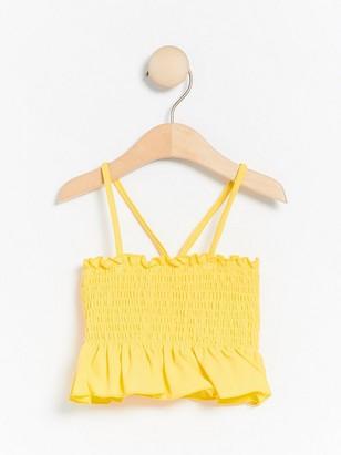 Yellow Bikini Top with Smock Yellow