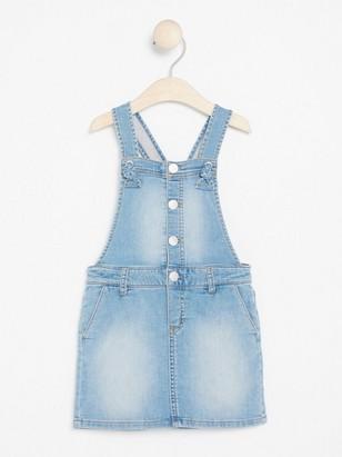 Džínové šaty slaclem Modrá