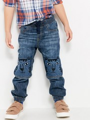 Loose Jeans with Extra Strong Knees Blue