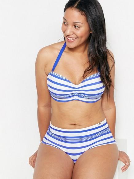 Bandeau-bikini-BH Blå