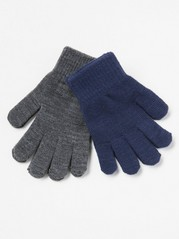 2-pack Knitted Gloves Blue