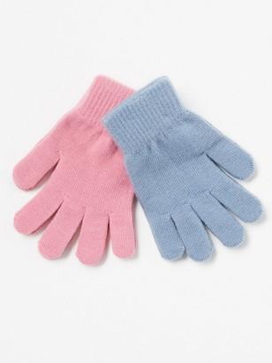 Sada 2párů pletených rukavic Růžová