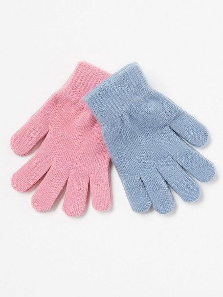 2-pakning med strikkede hansker Rosa