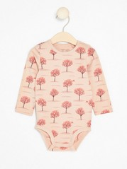 Bodysuit with Fruit trees Pink