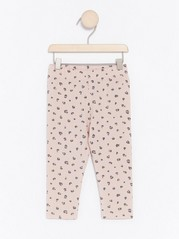 Leggings with Leo Pattern Pink
