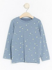 Long Sleeve Top with Fruits Blue