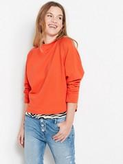 Sweatshirt i bomull  Orange