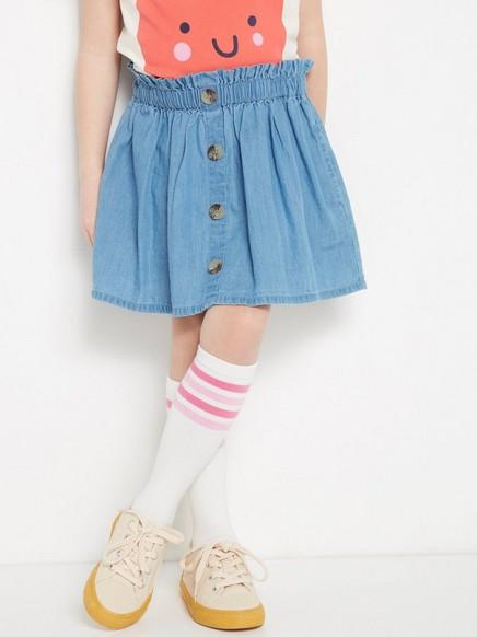 Jeansskjørt med knapper Blå