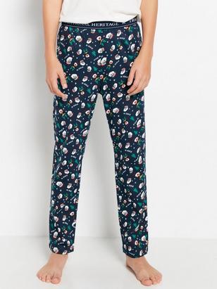 Patterned Pyjama Trousers Blue